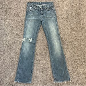 7 FOR ALL MANKIND JEANS- bootcut size 27